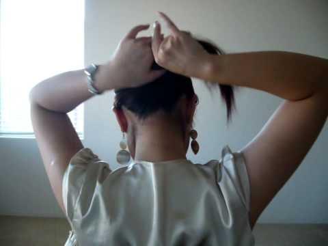 Çok Kısa Sürede Saç Çubuğu ile Topuz Saçlar
