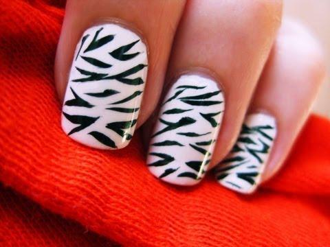 Zebra Desenli Tırnaklar
