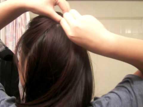Basit Yarım Toplu Kabarık Saç Modeli