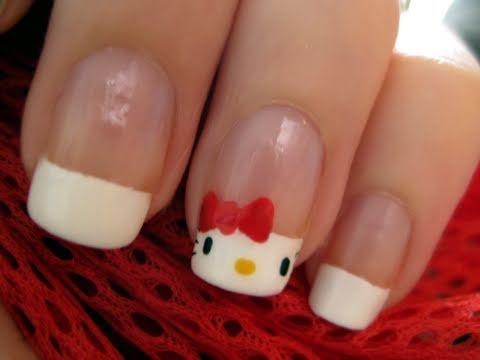 Hello Kitty Fransız Tırnaklar