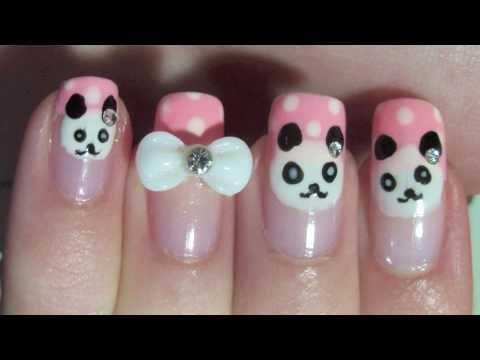Panda Deseni ile İlginç Tırnaklar