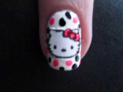 Hello Kitty Tırnaklarda