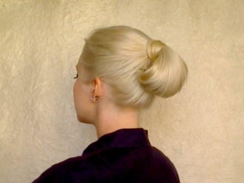 İşe Giderken Yapılabilecek Kolay Saç Modeli (Topuz)