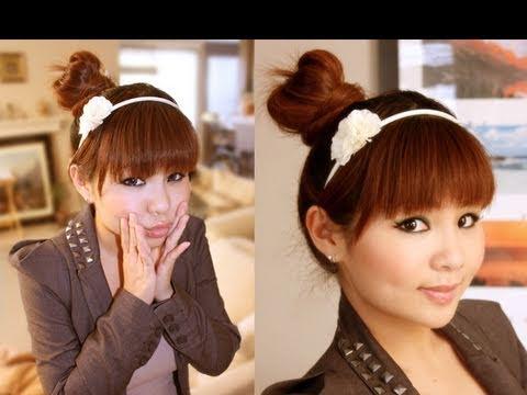 Japon Saç Modelleri Nasıl Yapılır? (Kahkül + Topuz Modeli)