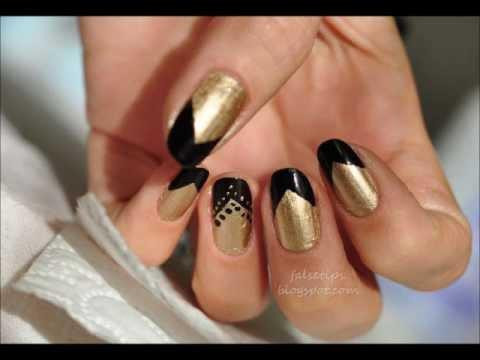 Üçgen Modeli Nail Art
