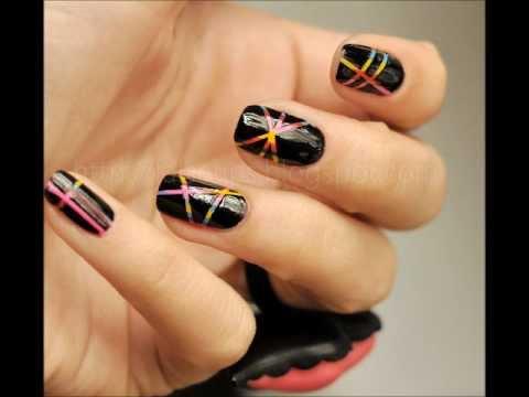 Lazer Efekti Nail Art (Bant Tekniği)