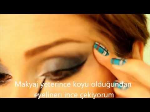 Dumanlı Göz Makyajı (Mavi-Gri)