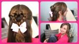 Örgülü Kalp Modeli – Sevimli Kız Saç Modeli
