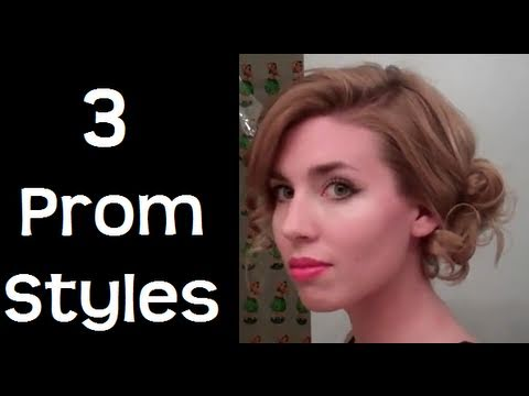 Uzun ve Orta Saç için Balo Saç Modeli