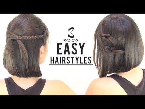 Kısa Saçlar İçin 3 Farklı Model