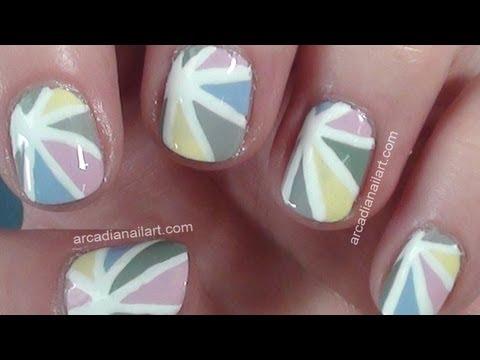 Pastel Tonlarda Gün Işığı Nail Art