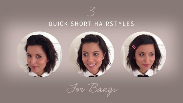 Kısa Saçlar İçin Çabuk ve Kolay 3 Farklı Saç Modeli