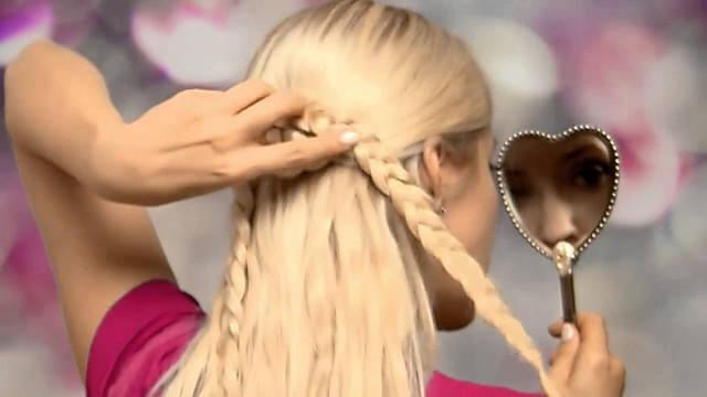 Uzun Saçlar İçin Kalp şeklinde Saç Modeli