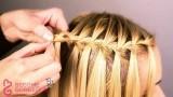 Şelale Modeli Saç Örgüsü Yapımı