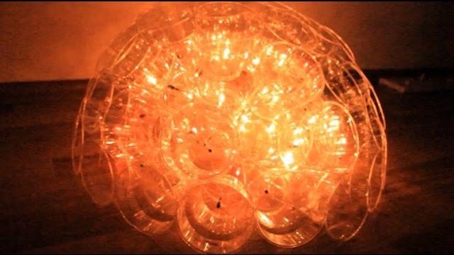 DIY | Plastik Bardakla Evde Abajur Yapımı | Merve SEVİL